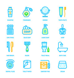 colorful personal hygiene icons vector image