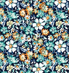 ditsy blue seamless background vector image vector image