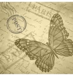 Light beige grange scratched background old paper vector image vector image