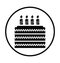 Party cake icon vector image vector image