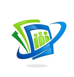 photo camera data abstract logo vector image