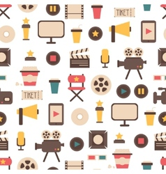 Seamless pattern of flat colorful movie design vector image