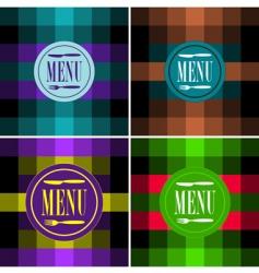 set of menu card designs vector image vector image