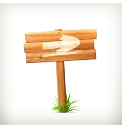 Wooden sign arrow vector image vector image