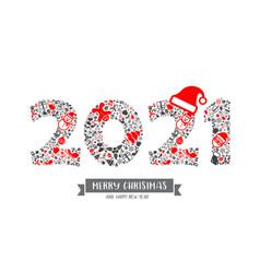 2021 christmas icon vector