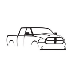 4th generation ram crew cab silhouette vector