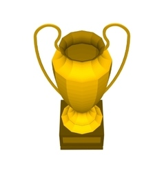 Abstract creative trophy cup set Isolated mockup vector image