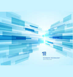 abstract perspective futuristic technology vector image