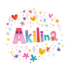Akilina girls name vector