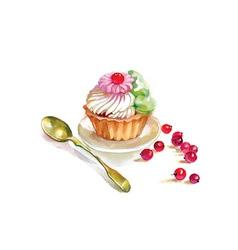 Artistic tea party design vector