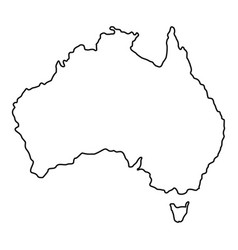 australia icon outline style vector image