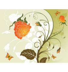 background floral vector image