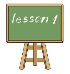 Blackboard with description lesson one vector