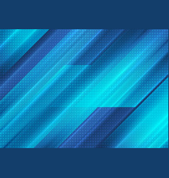 Bright blue technology stripes abstract background vector