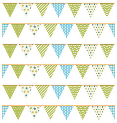 bunting seamless pattern vector image