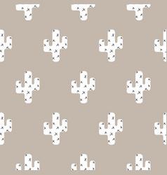 cactus scandinavian print seamless pattern vector image