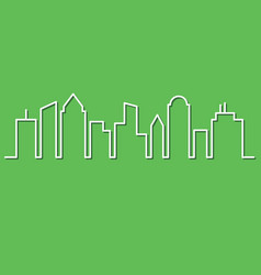 City skyline minimalist style vector