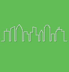 city skyline minimalist style vector image