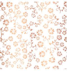 copper foil flower seamless pattern vector image