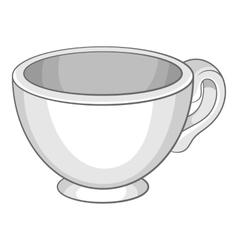 Cup icon cartoon style vector