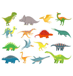 cute baby dinosaur dinosaurs dragon and funny vector image