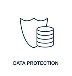 data protection thin line icon creative simple vector image
