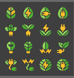 eco energy icon set vector image