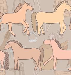 Equestrianpatternhorses vector
