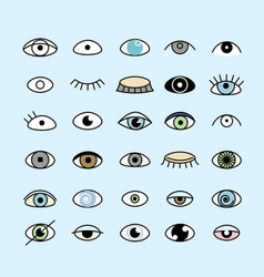 eye seamlless pattern vector image