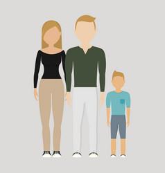 family cartoon icon vector image