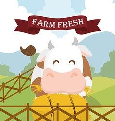 Farm fresh design vector image