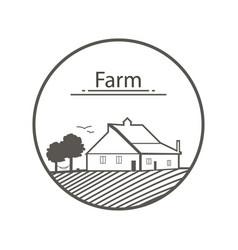 farm logo template with farm vector image