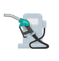 gas station cartoon style for the vector image