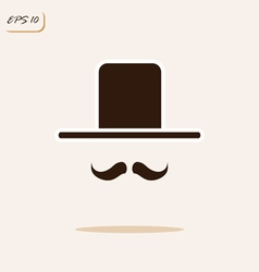 Gentleman with a mustache and hat vector