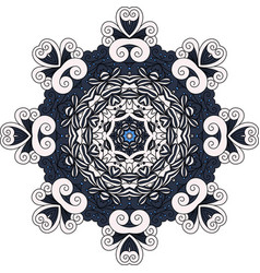 Grey and blue mandala decorative icon vector
