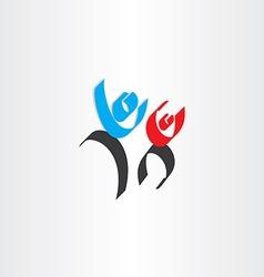 happy people men calligraphy icon vector image vector image