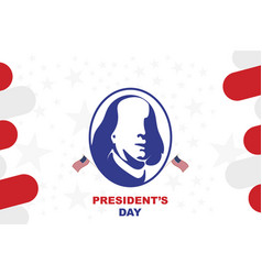 happy presidents day of usa template design vector image