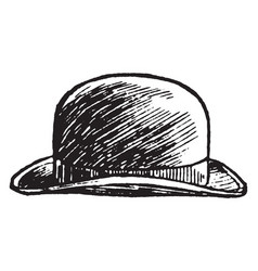 Hat bowler pattern vintage engraving vector
