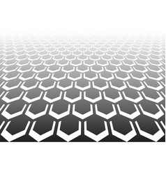 Hexagons pattern in diminishing perspective vector