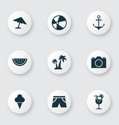 Hot icons set collection of trees sweets vector
