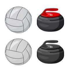 Isolated object of sport and ball symbol vector