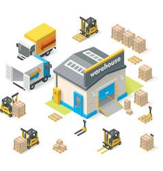 Isometric warehouse vector