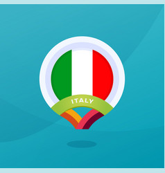 italy flag map location pin european football vector image