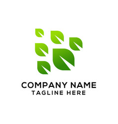 leaf logo design ready to use for your company vector image