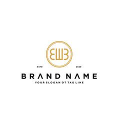 Letter ewb logo design concept vector