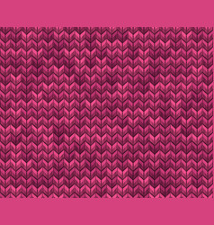 light and dark pink knit seamless pattern eps 10 vector image