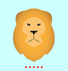 lion head it is icon vector image