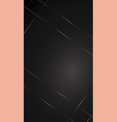 luxury black background banner with gold strip vector image