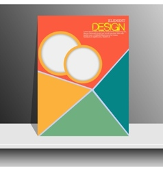 Magazine cover with pieces of colored Paper vector image