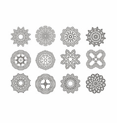 Mandala round ornament vintage decorative vector